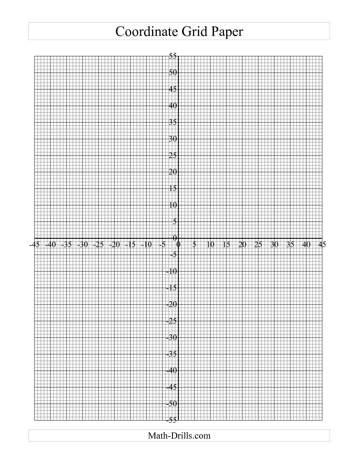 Coordinate Plane Blank Sea Animals Coloring | Math | Printable Graph - Free Printable Graph Paper For Elementary Students