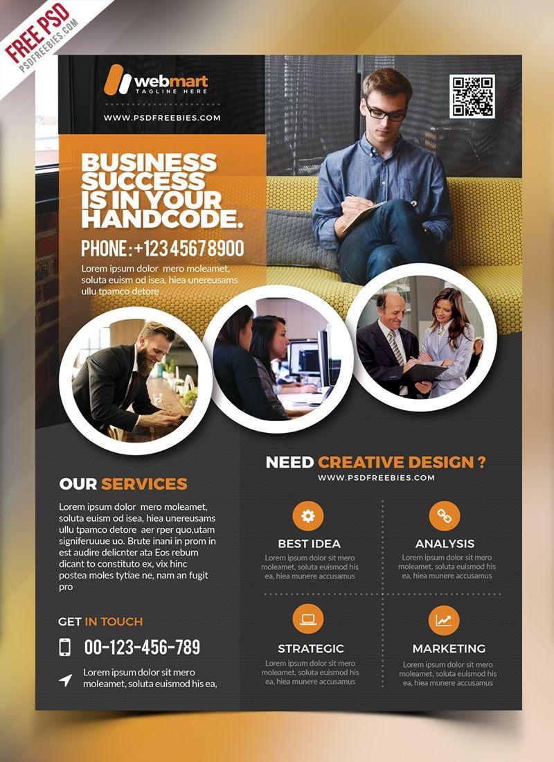 Corporate Flyer Template Free Psd | Psd Print Template | Pinterest - Business Flyer Templates Free Printable