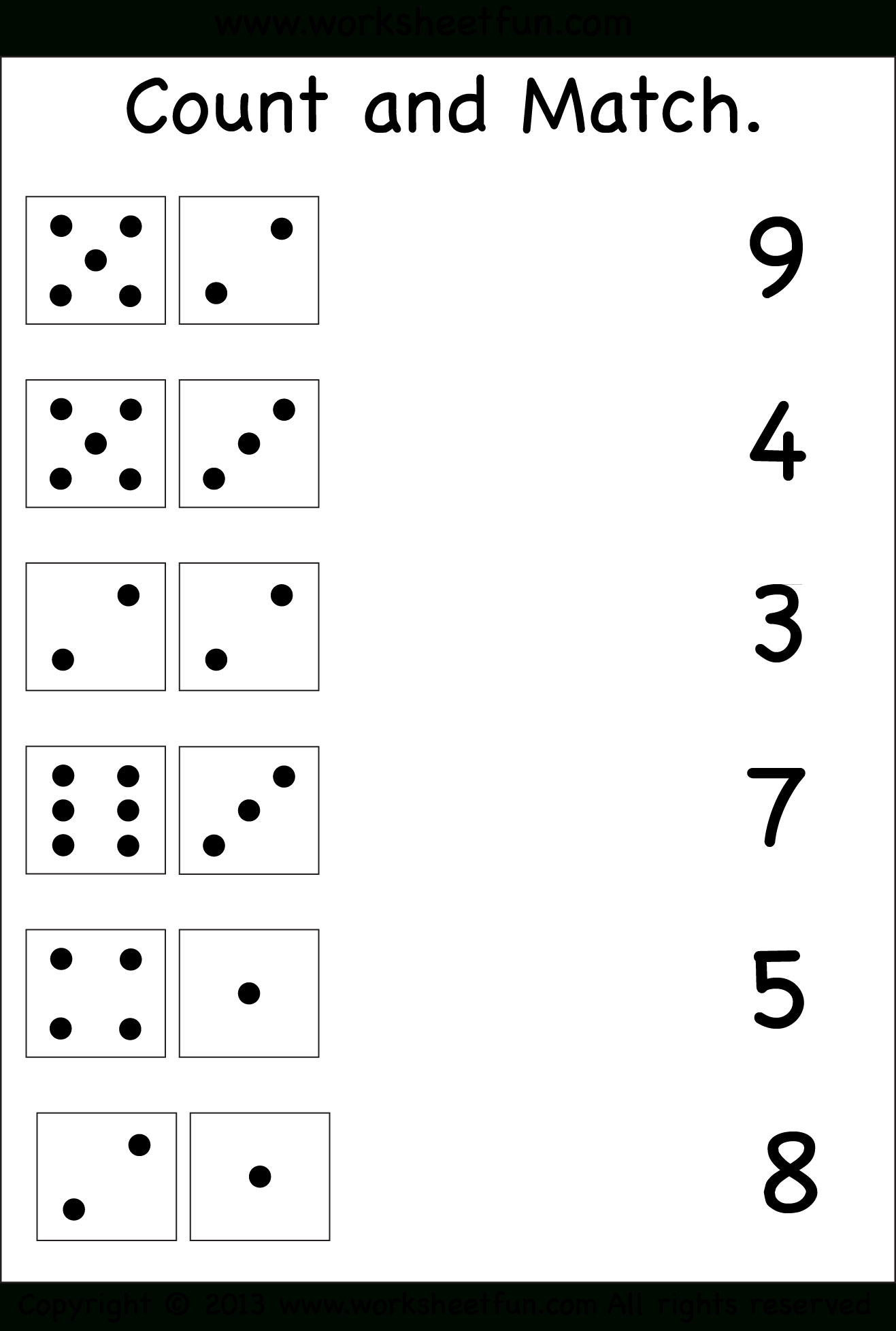 Count And Match – Two Worksheets / Free Printable Worksheets - Free Printable Counting Worksheets 1 10