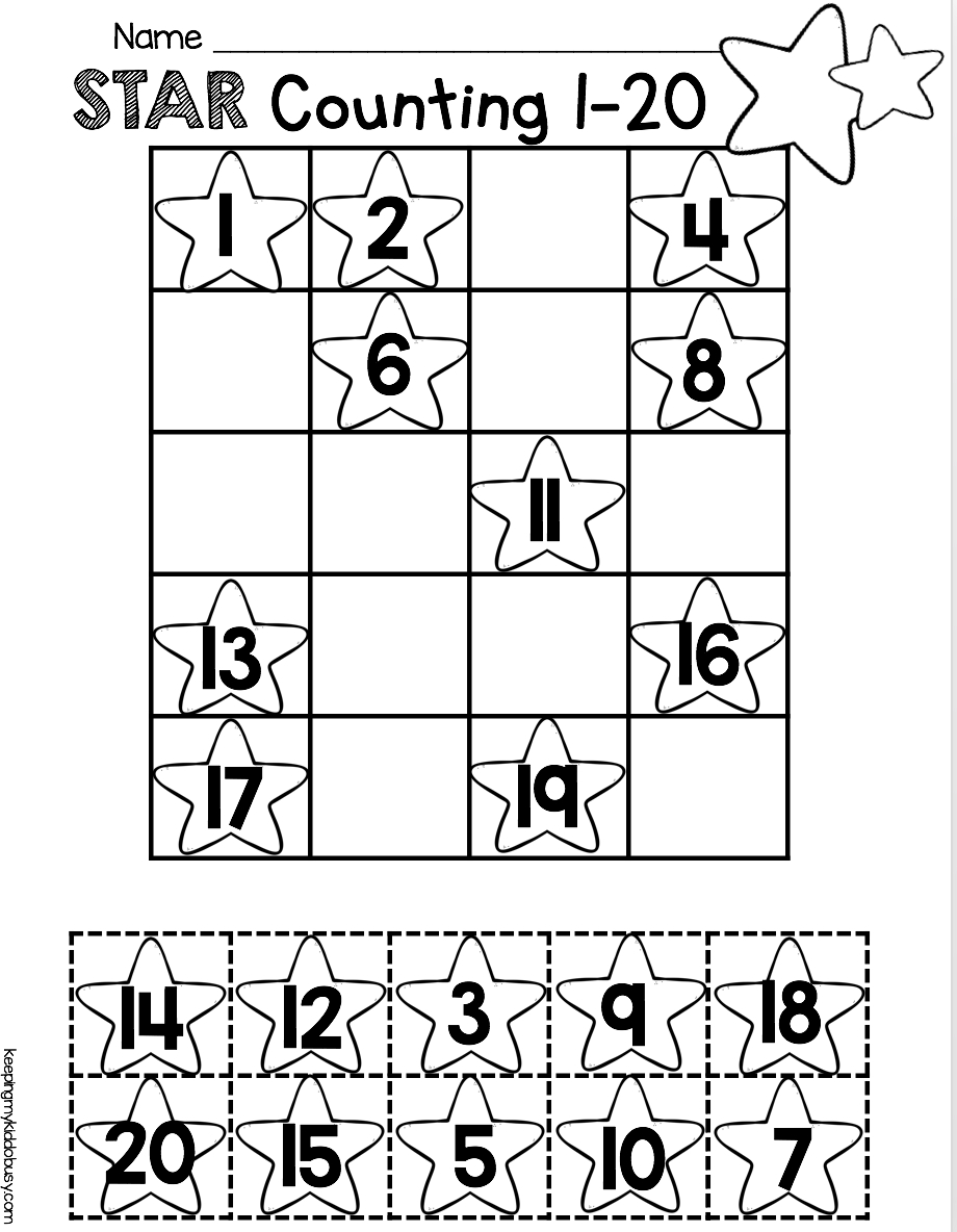 Counting And Cardinality Freebies   For The Kinders   Pinterest - Free Printable Numbers 1 20 Worksheets