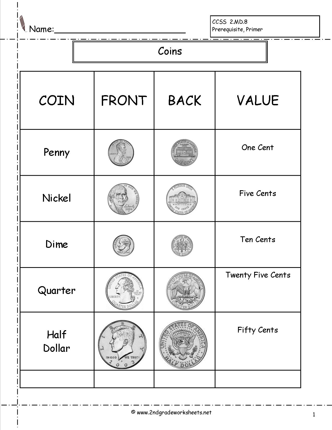 Counting Coins And Money Worksheets And Printouts - Free Printable Making Change Worksheets