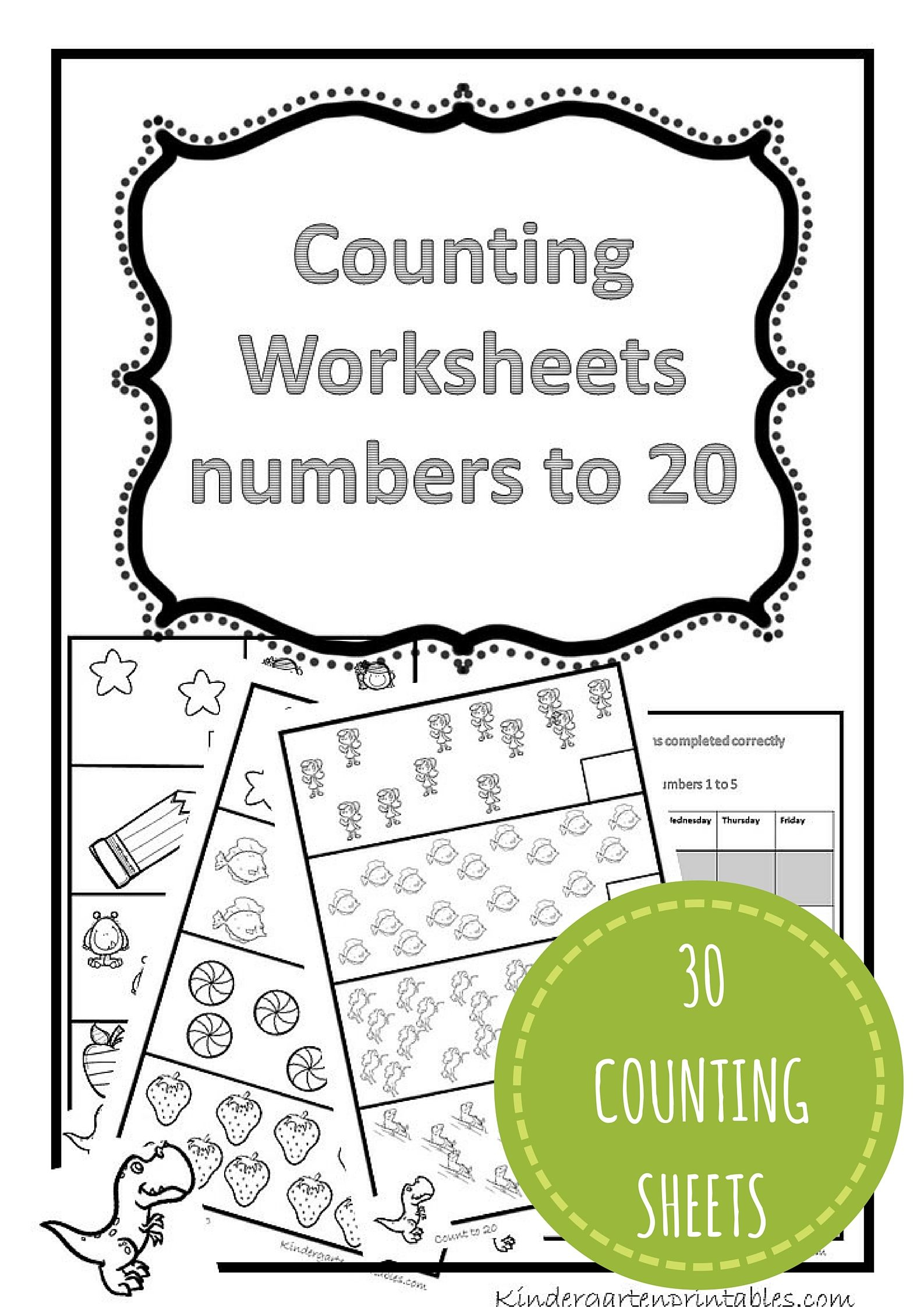 Counting Worksheets 1-20 Free Printable Workbook Counting Worksheets - Free Printable Math Workbooks