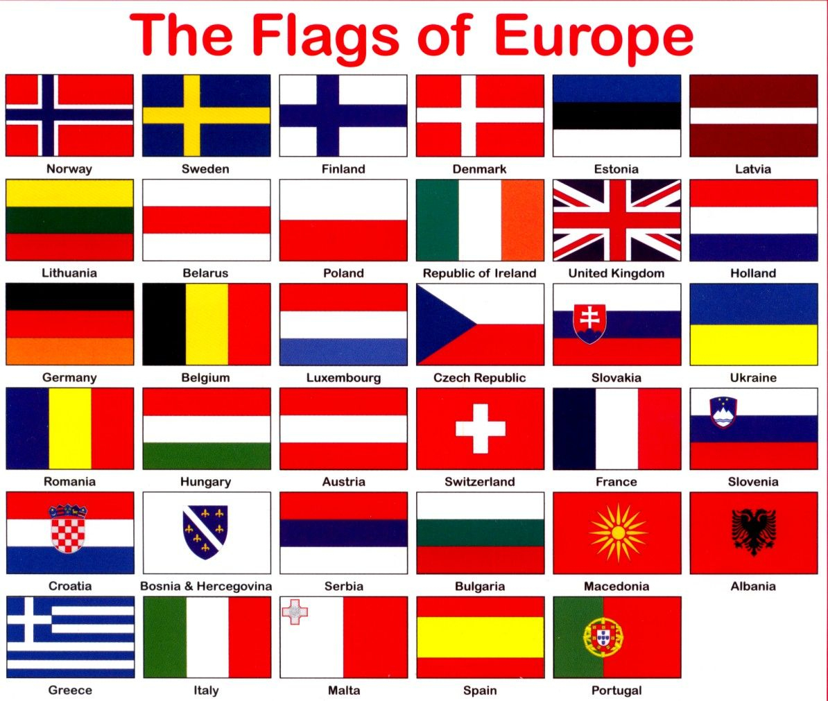 Countries Europe Flags Printable - Google Search | Geography Europe - Free Printable Pictures Of Flags Of The World