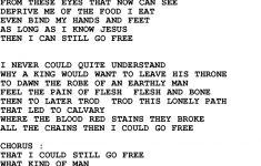 Free Printable Southern Gospel Song Lyrics