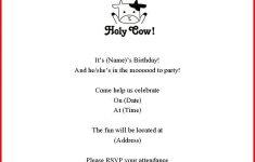 Cow Birthday Party Invitations – Hashtag Bg – Free Printable Cow Birthday Invitations
