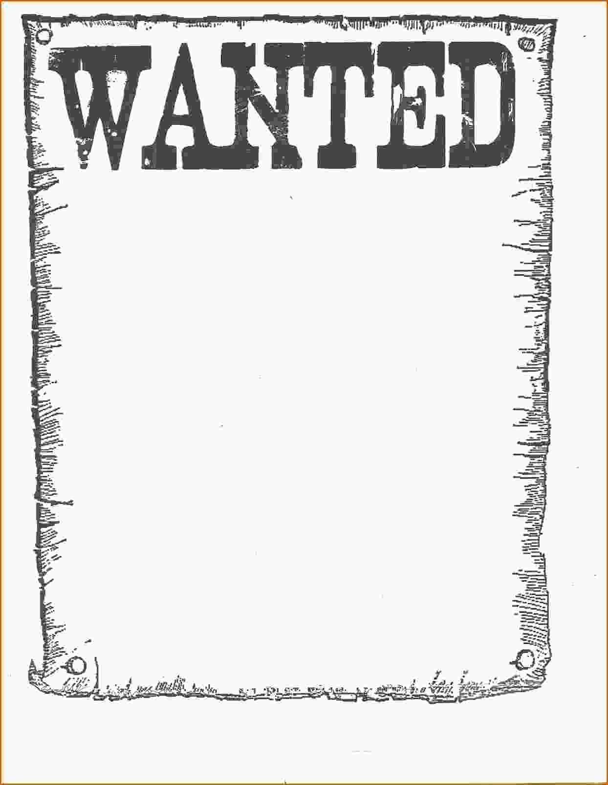 Cowboy Cutouts Nice Free Printable Wanted Poster ~ Atabeyimedya - Wanted Poster Printable Free
