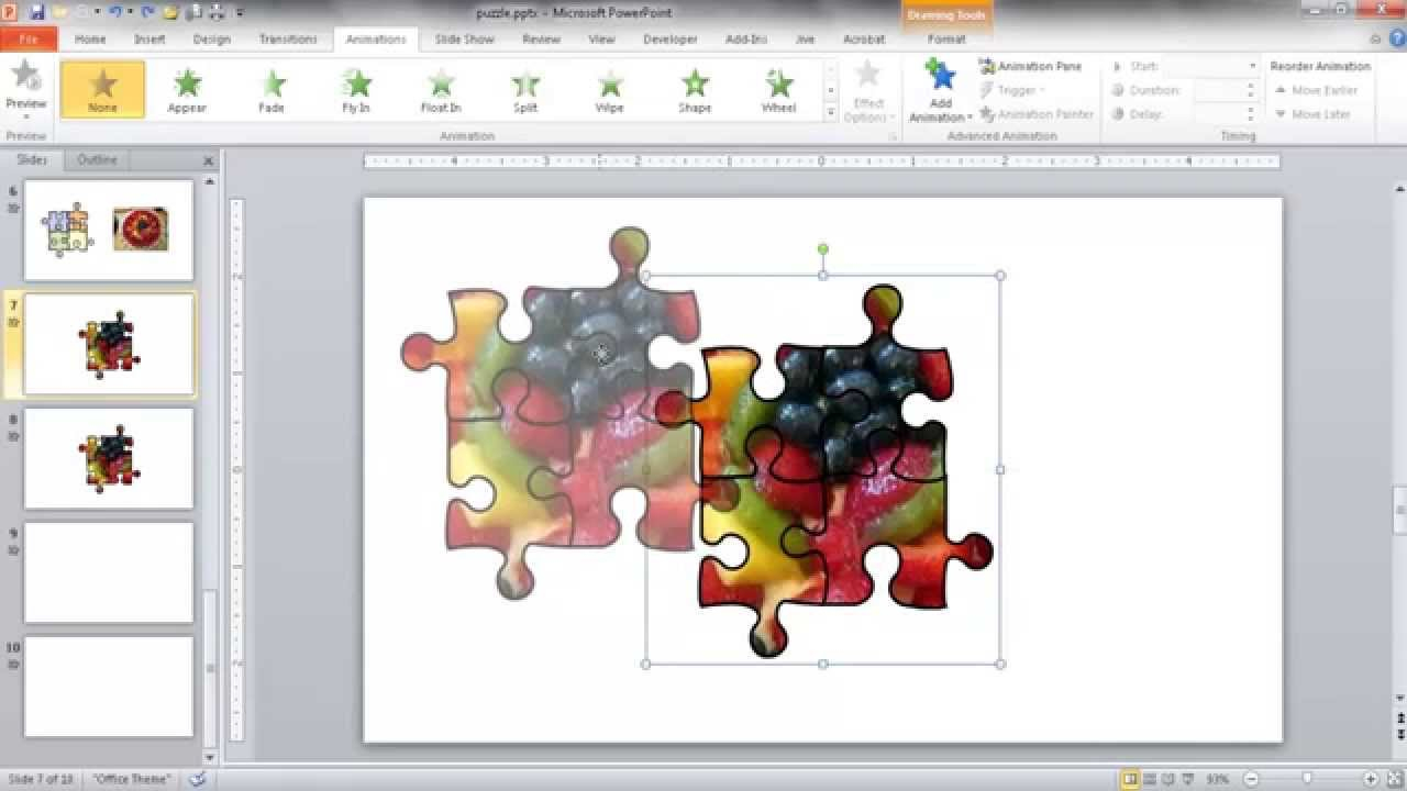 Create A Jigsaw Puzzle Image In Powerpoint - Youtube - Jigsaw Puzzle Maker Free Online Printable