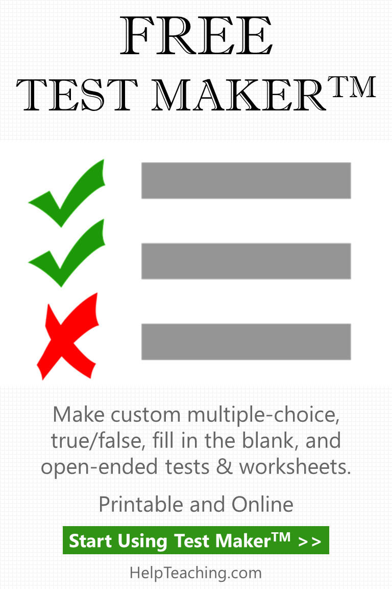 Create Tests Online With Our Free Test Maker For Teachers And - Free Printable Test Maker For Teachers