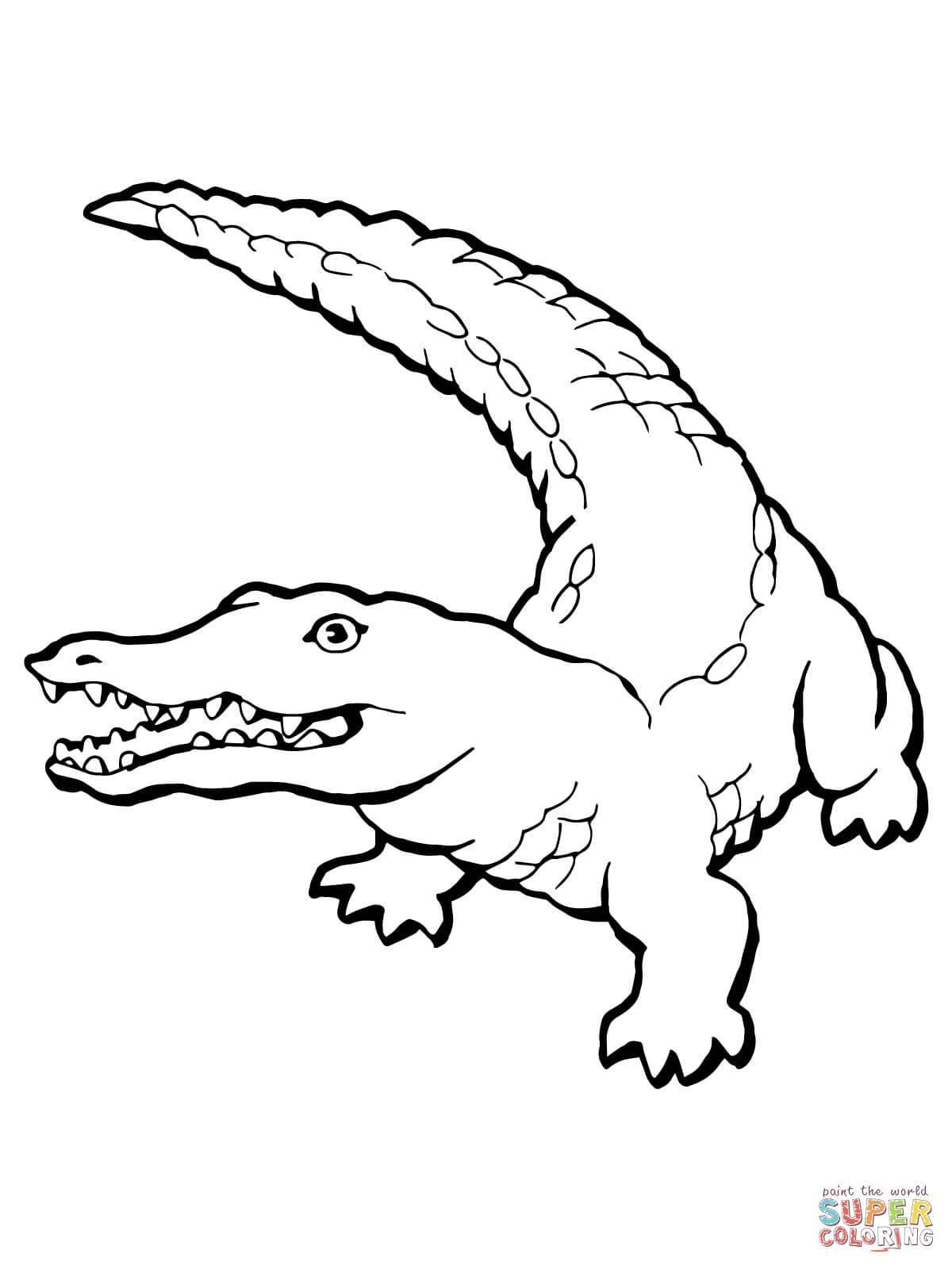Crocodile Coloring Pages Realistic Page Free Printable 1200×1600 - Free Printable Pictures Of Crocodiles