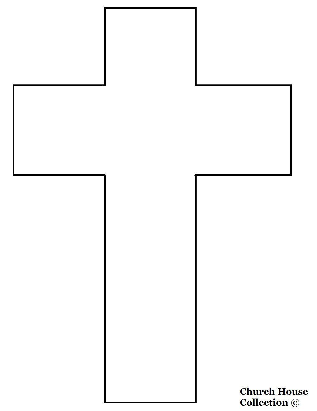 Cross Templates Printable | Cross Template- Printable Version | 1St - Free Printable Cross