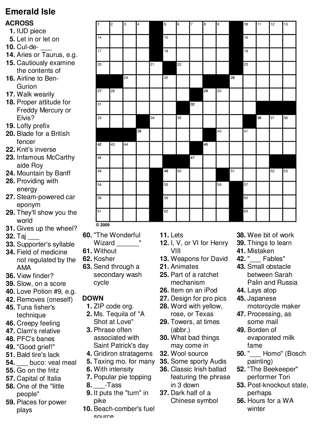 Crossword Puzzle Easy Printable Puzzles For Seniors ~ Themarketonholly - Free Printable Riddles With Answers