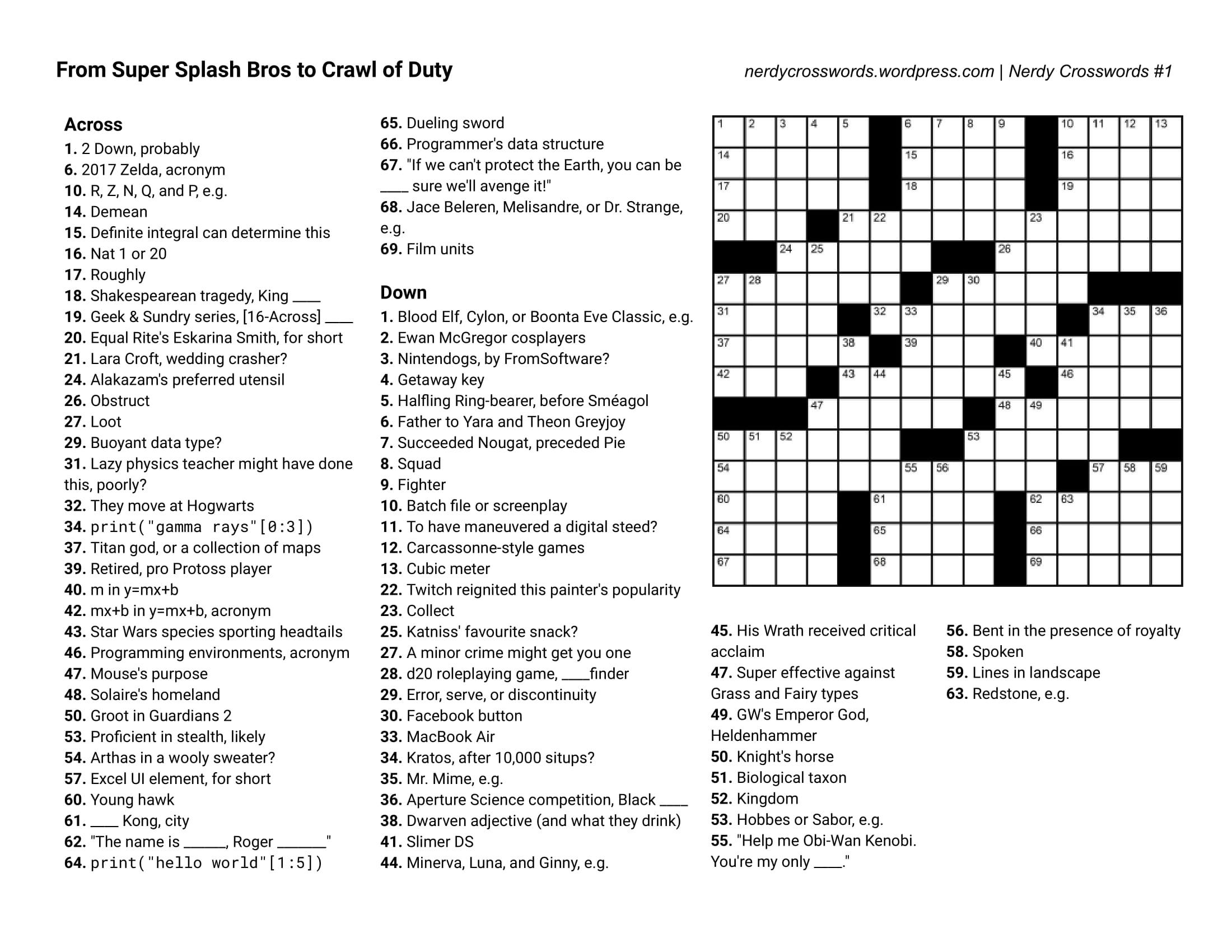 Crossword Puzzles - Free Printable Crosswords Usa Today