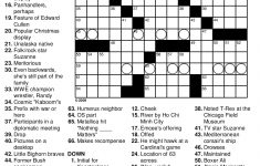 Free Printable Crosswords