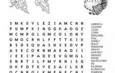 Thanksgiving Crossword Puzzles Printable Free