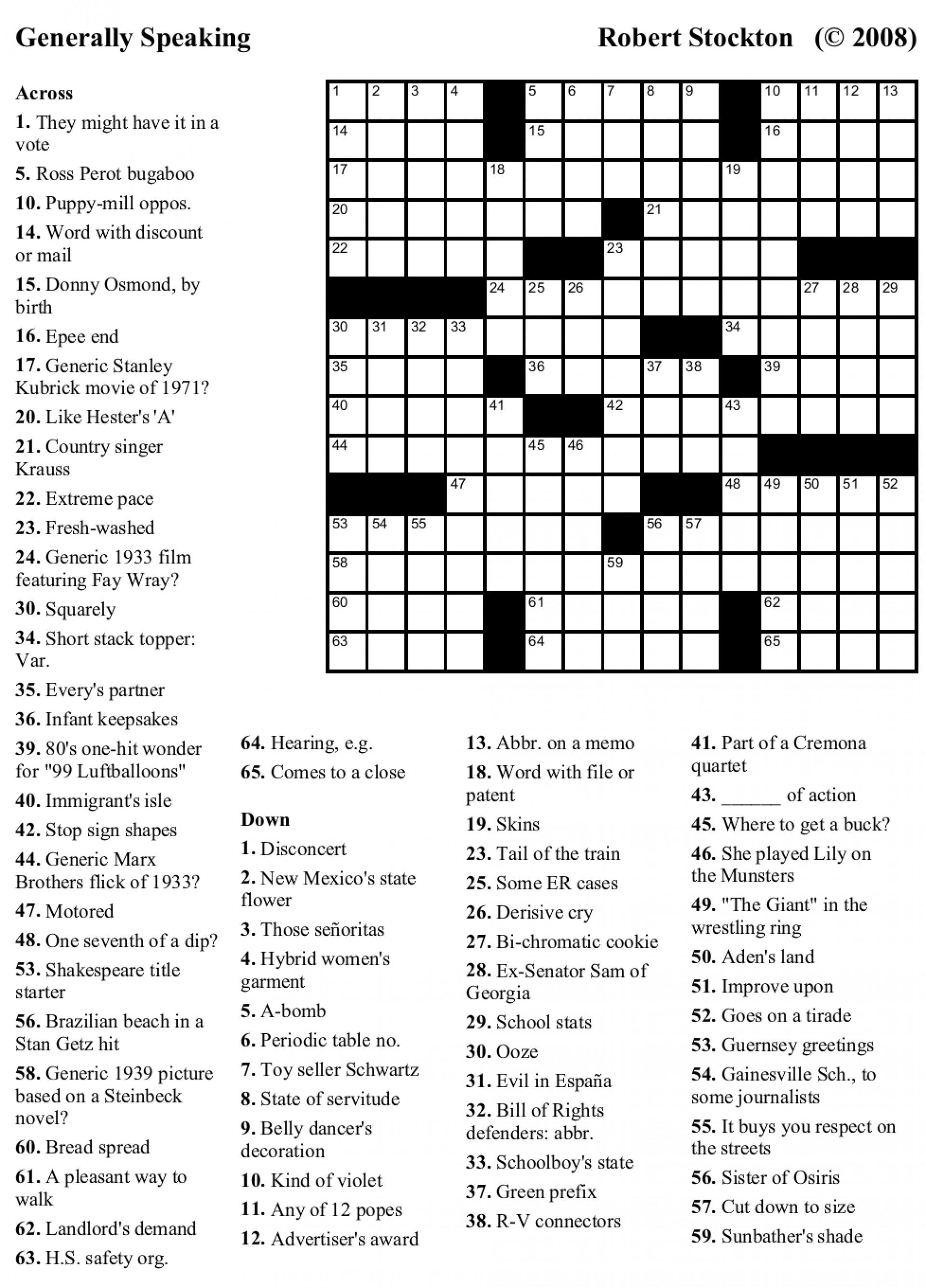 Crosswords Crossword Puzzles Printable Free Usa Today ~ Themarketonholly - Free Printable Crosswords Usa Today