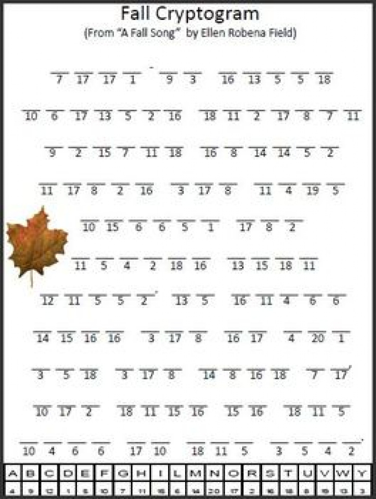 Cryptogram Teaching Resources | Teachers Pay Teachers Pertaining To - Free Printable Cryptograms Pdf