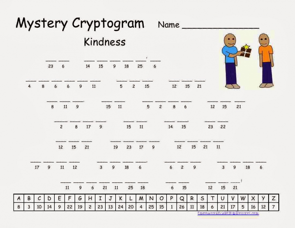 Cryptograms! | Cjrl: Kids Zone With Regard To Free Printable - Free Printable Cryptograms Pdf