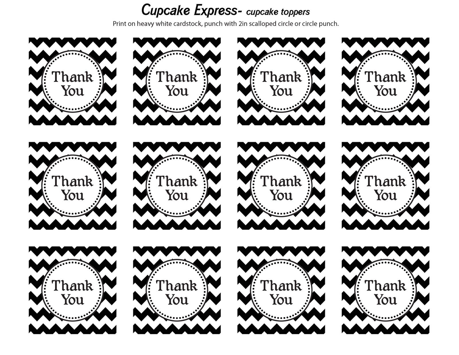 Cupcake Express: Happy Monday!! Free Thank You Tags | Dads 60Th - Free Printable Thank You Tags