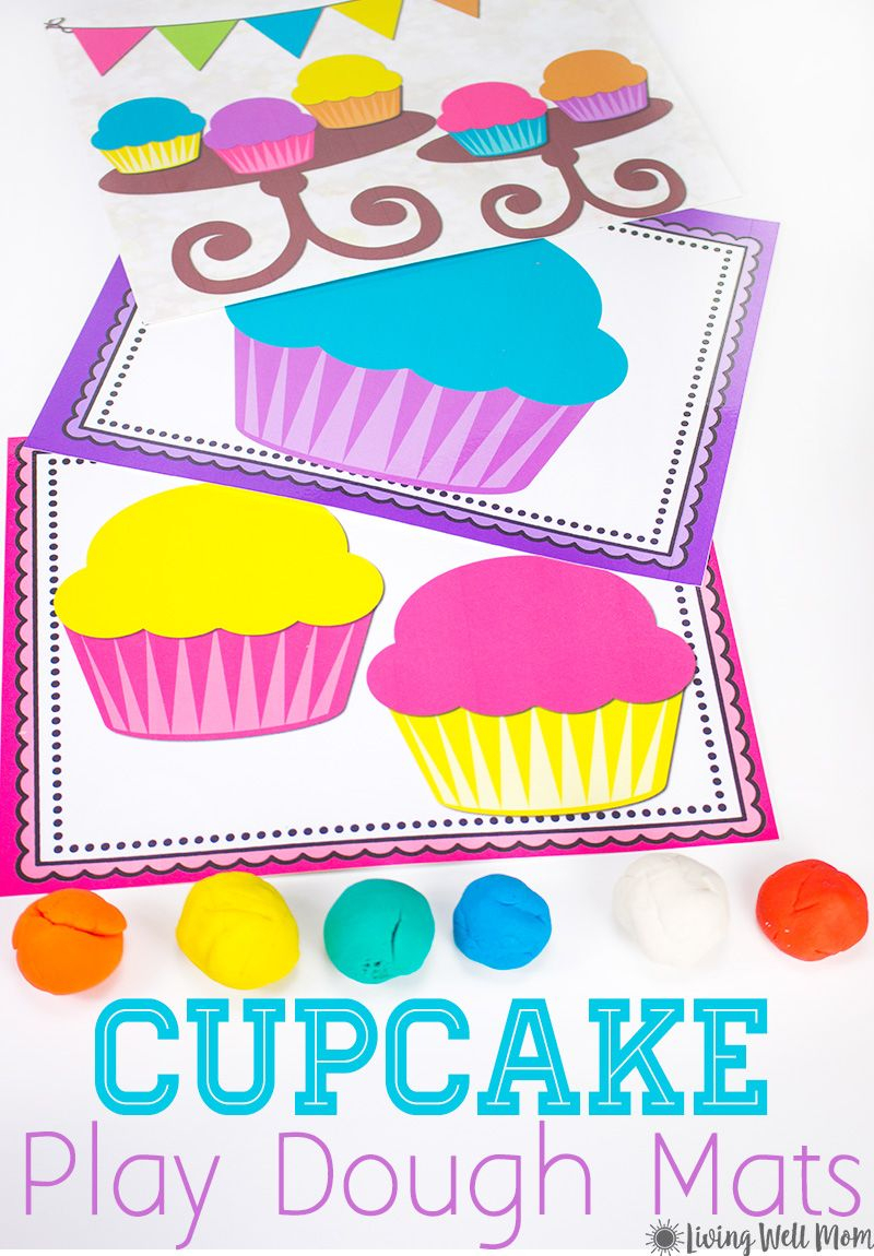 Cupcake Playdough Mats - Free Printable Activity For Kids | Creative - Free Printable Playdough Mats