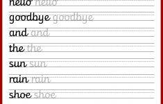 Cursive Letters Worksheet Printable Free