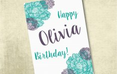 Free Printable Personalized Birthday Cards
