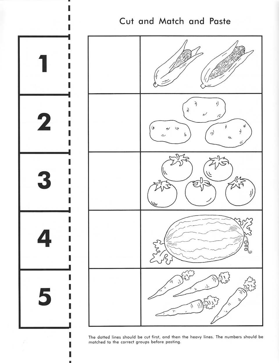 Cut, Count, Match And Paste / Free Printable | Pre-K Math - Free Printable Math Workbooks