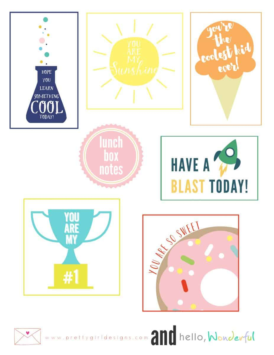 Cute Free Printable Lunchbox Notes - Free Printable Lunchbox Notes