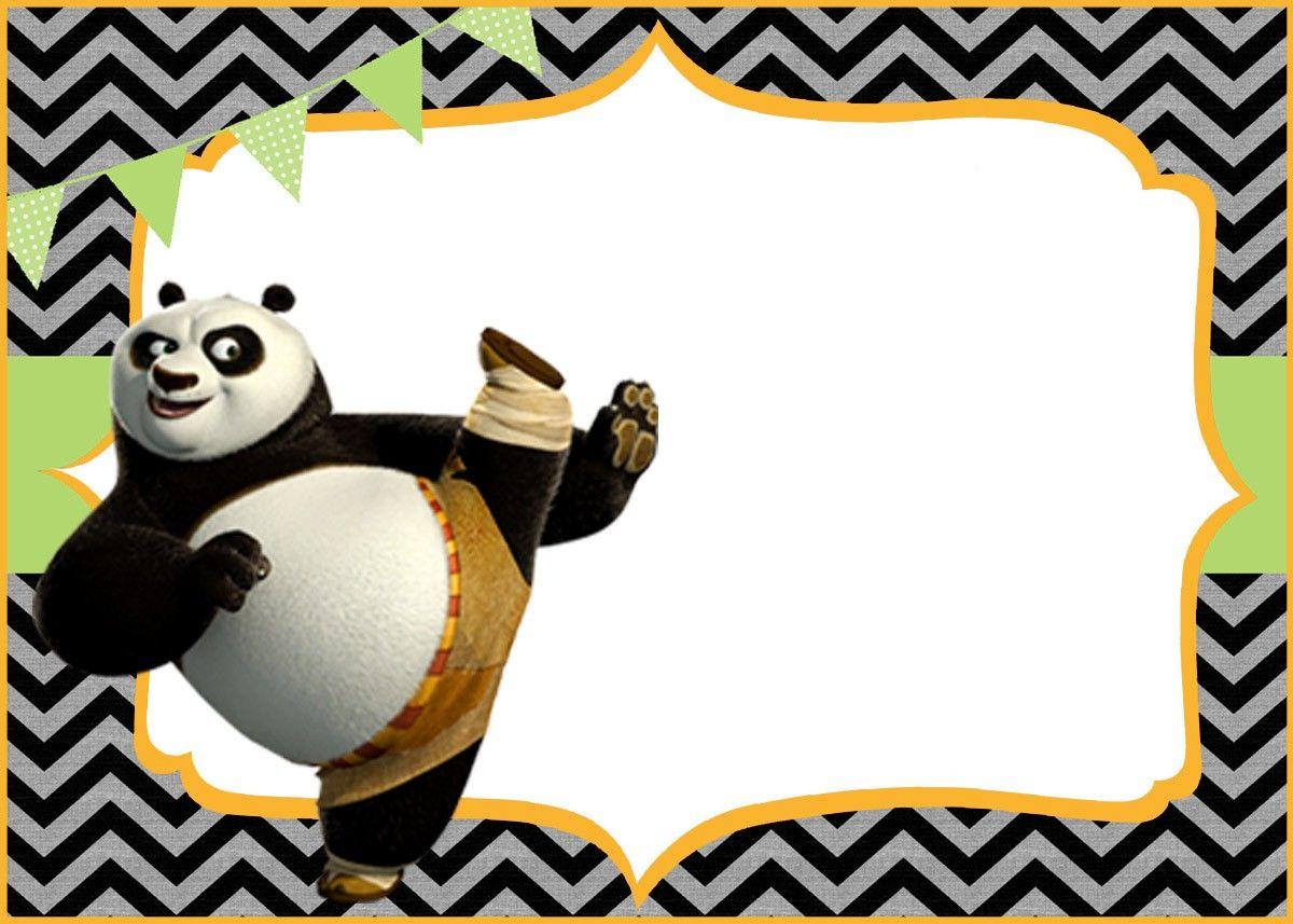 Cute Kung Fu Panda Free Printable Template   Coolest Invitation - Panda Bear Invitations Free Printable