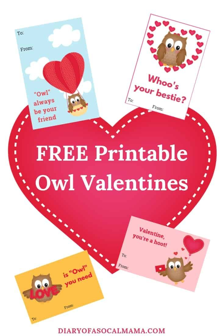 Cute Owl Valentine Cards For Kids: Free Printable | Valentine's Day - Free Printable Owl Valentine Cards