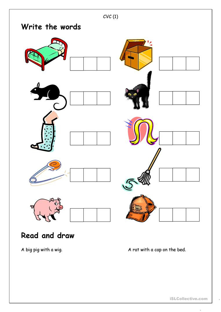 Cvc Activities For Kindergarten Awesome Free Printable Cvc - Free Printable Cvc Worksheets