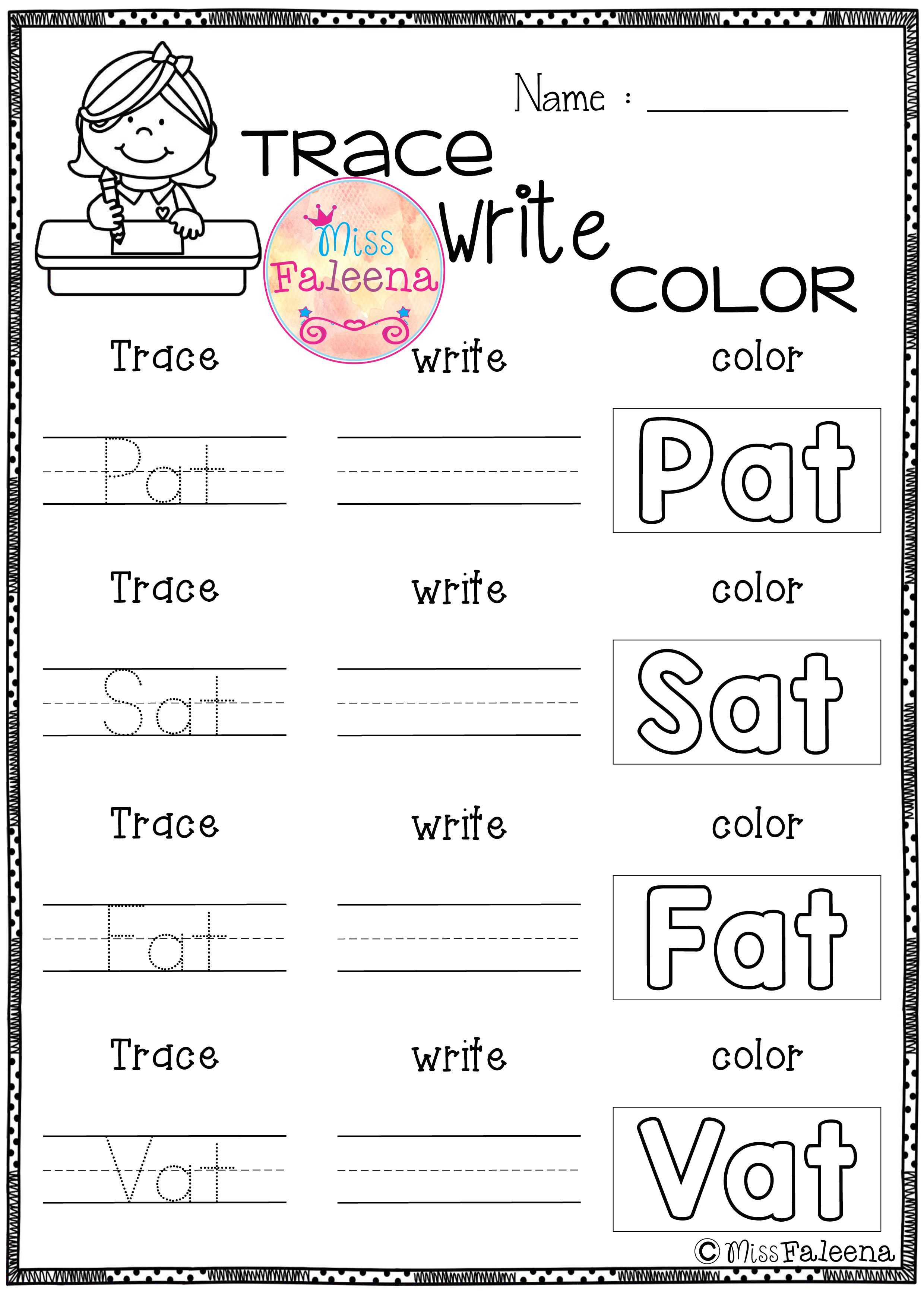 Cvc Words Short A Exercise This Product Is Designed To Help Teach - Cvc Words Worksheets Free Printable