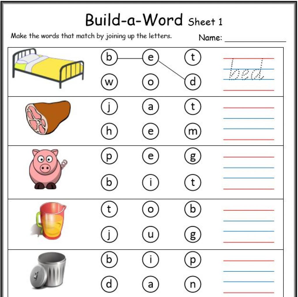 Cvc Worksheets Printable Work Sheets • Keepkidsreading With Regard - Free Printable Cvc Worksheets