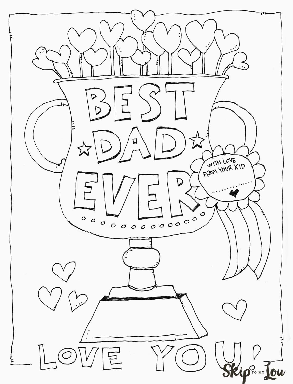 Dad Coloring Page For The Best Dad | Father's Day | Pinterest | Kids - Free Printable Fathers Day Coloring Pages For Grandpa