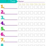 Daily Responsibilities Chart For Kids! Free Printable To Help   Free Printable Chore Chart Ideas