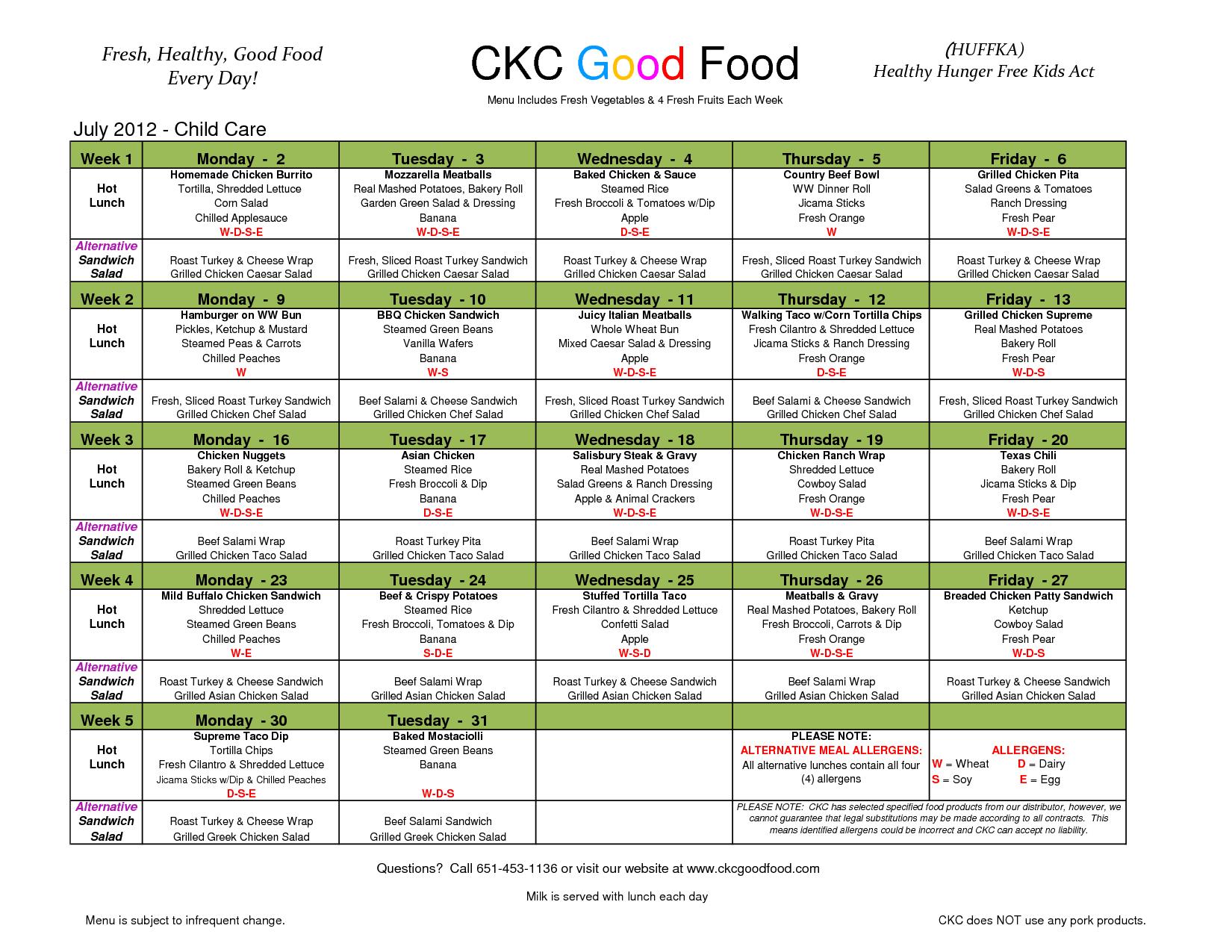 Day Care Menu - Bing Images   Menu Ideas   Lunch Menu, Kids Meals - Free Printable Daycare Menus