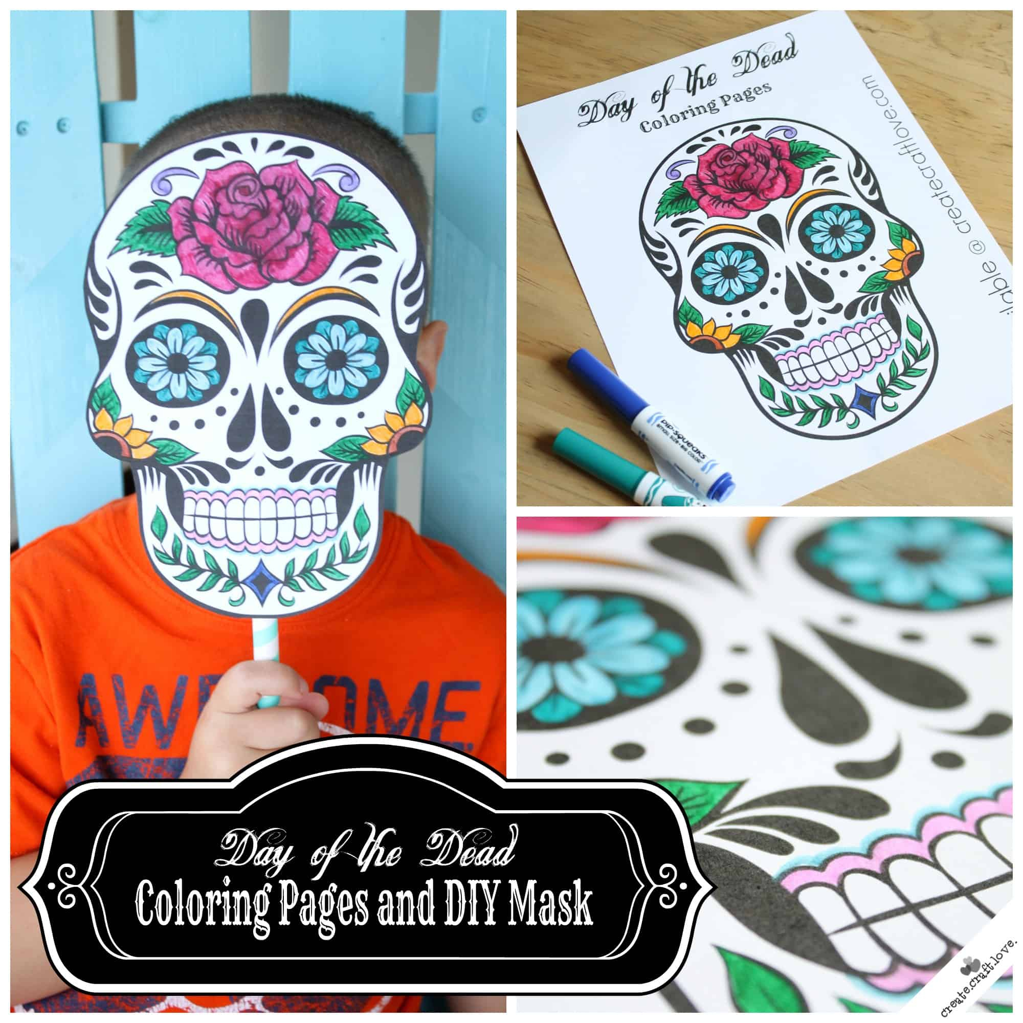 Day Of The Dead Mask Printable - Free Printable Sugar Skull Day Of The Dead Mask