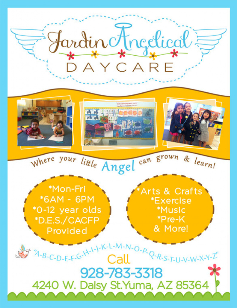 Daycare Flyers Sample - Ceriunicaasl For Free Printable Home Daycare - Free Printable Home Daycare Flyers