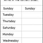 Days Of The Week – 1 Worksheet / Free Printable Worksheets   Free Printable Days Of The Week
