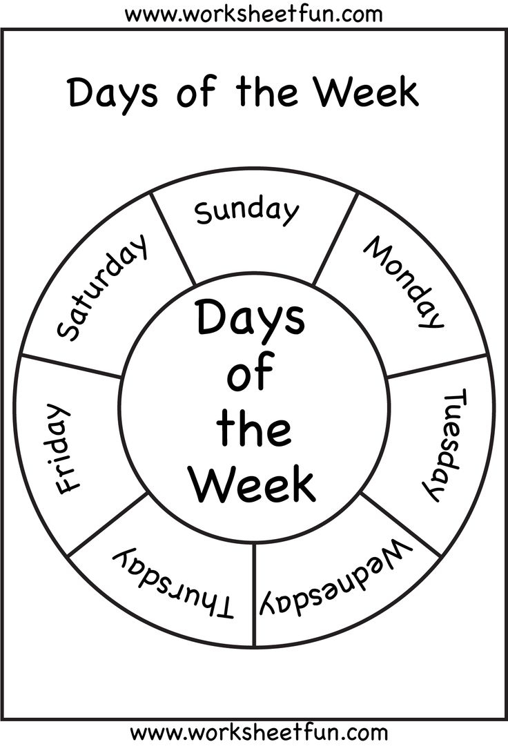 Days Of The Week   Days Of The Week!   Preschool Worksheets - Free Printable Months Of The Year Chart