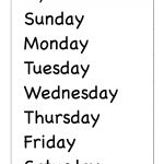 Days Of The Week – Two Worksheets / Free Printable Worksheets   Free Printable Days Of The Week