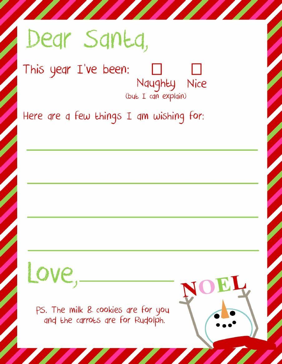 Dear Santa Letter Printable | Kindergarten - Holidays & Themes - Free Printable Dear Santa Stationary