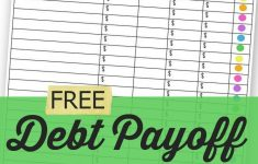 Free Printable Debt Payoff Worksheet
