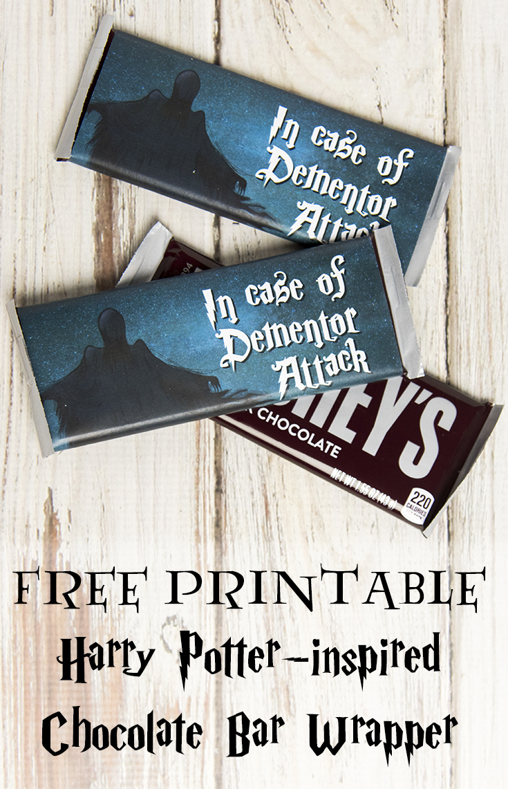 Dementor Attack Chocolate Bar Wrapper - Free Printable - Free Printable Hershey Bar Wrappers
