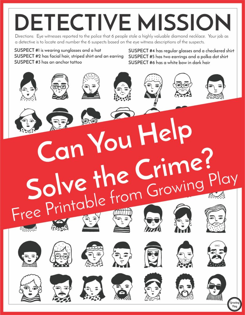 Detective Puzzle For Kids - Free Printable - Growing Play - Free Printable I Spy Puzzles