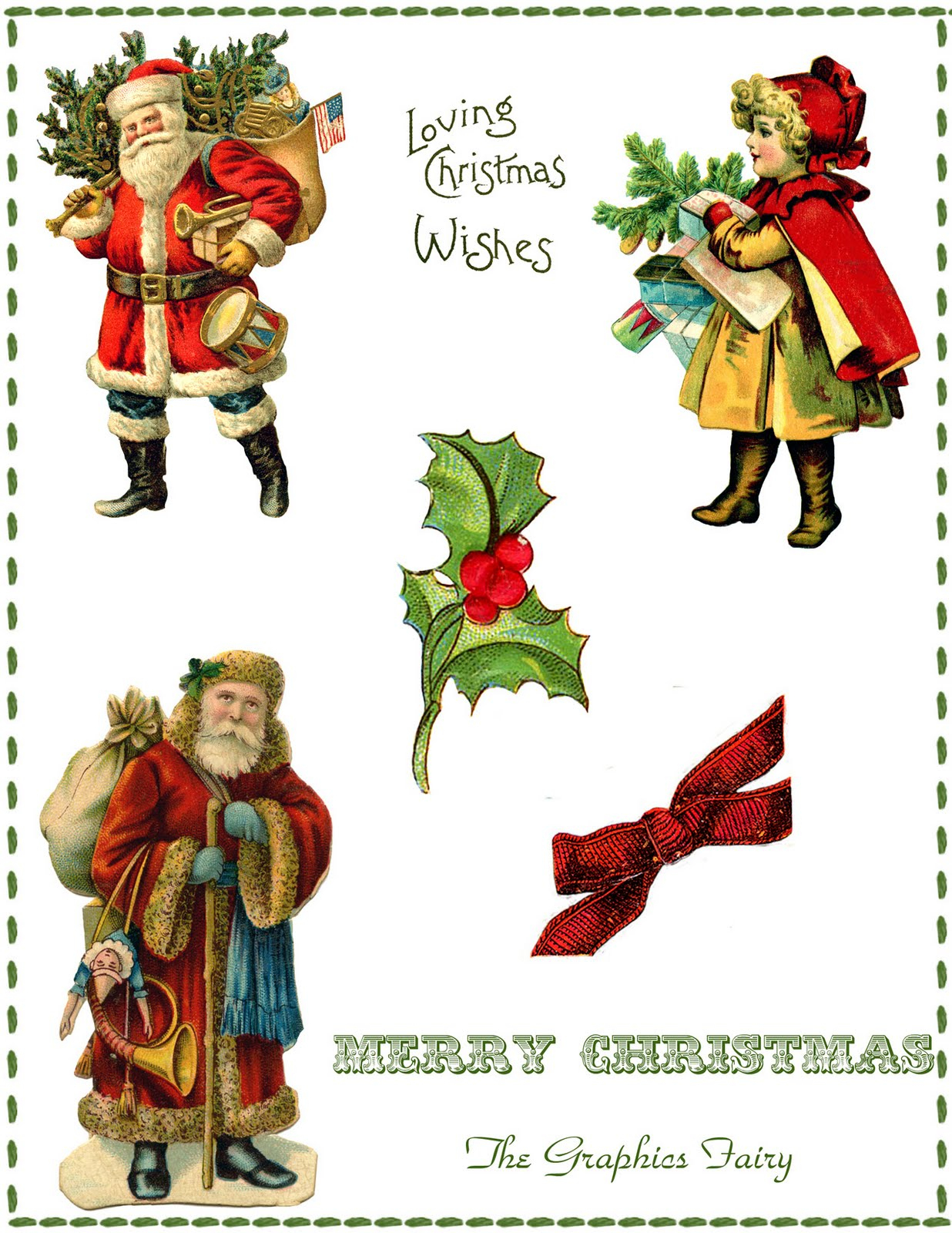 Digital Collage Sheets Archives - The Graphics Fairy - Free Printable Christmas Photo Collage