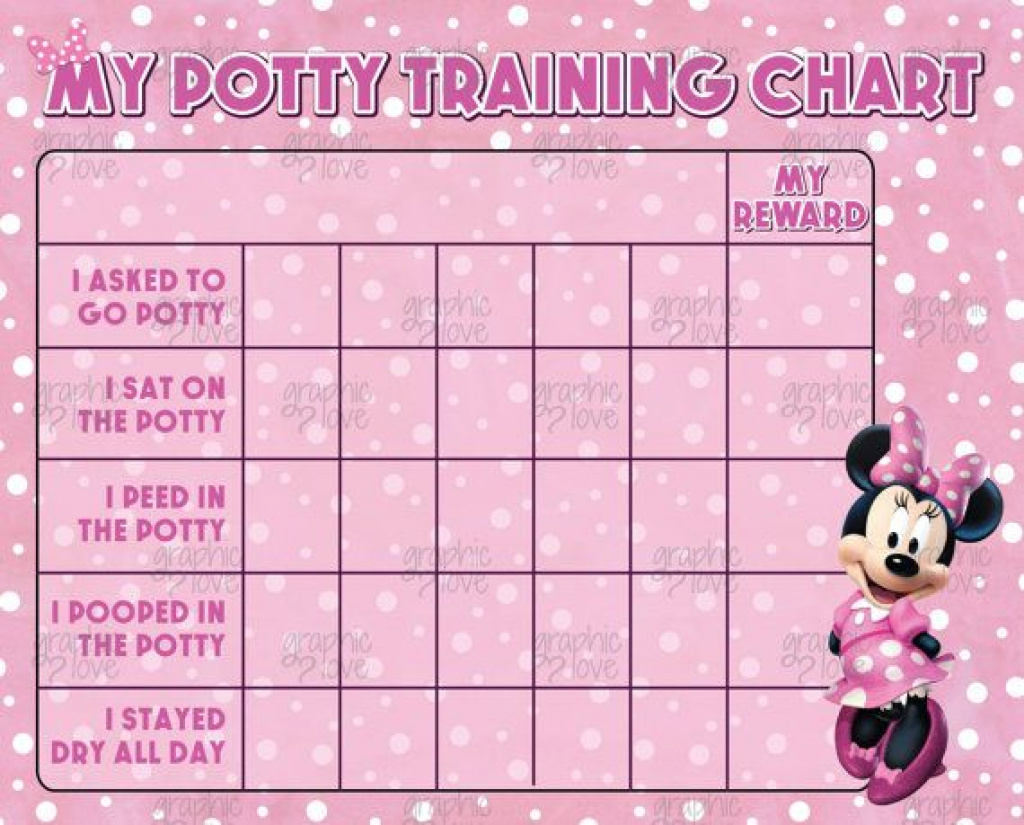 Digital Minnie Mouse Potty Training Chart, Free Punch Cards | Disney - Free Printable Minnie Mouse Potty Training Chart