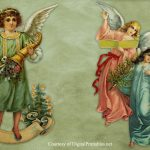 Digital Printables: Free Printable Victorian Christmas Angel Scraps – Free Printable Decoupage Images