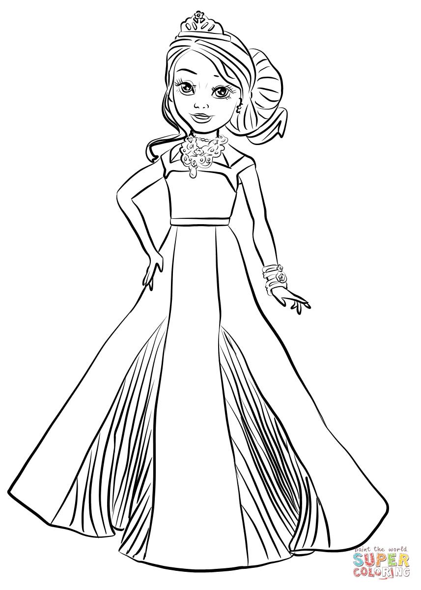 Disney Descendants Auradon Coronation Audrey Coloring Page | Free - Free Printable Descendants Coloring Pages
