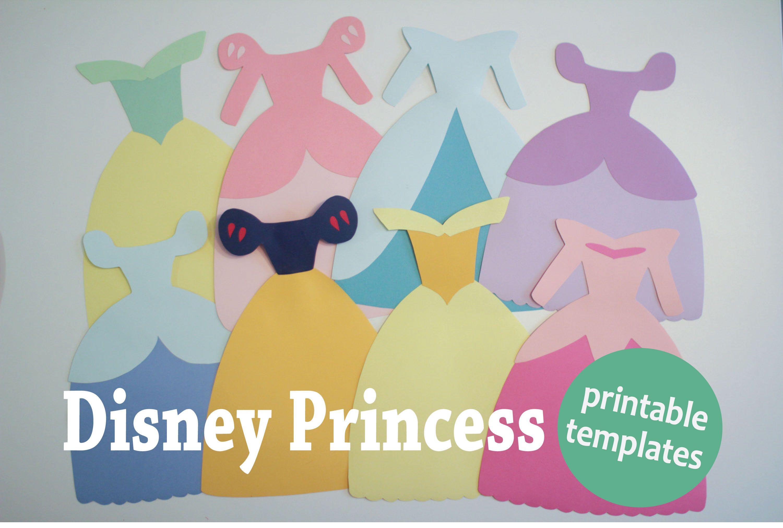 Disney Princess Dress Paper Templates - Hot Hands Bakery | Disney - Free Printable Princess Birthday Banner