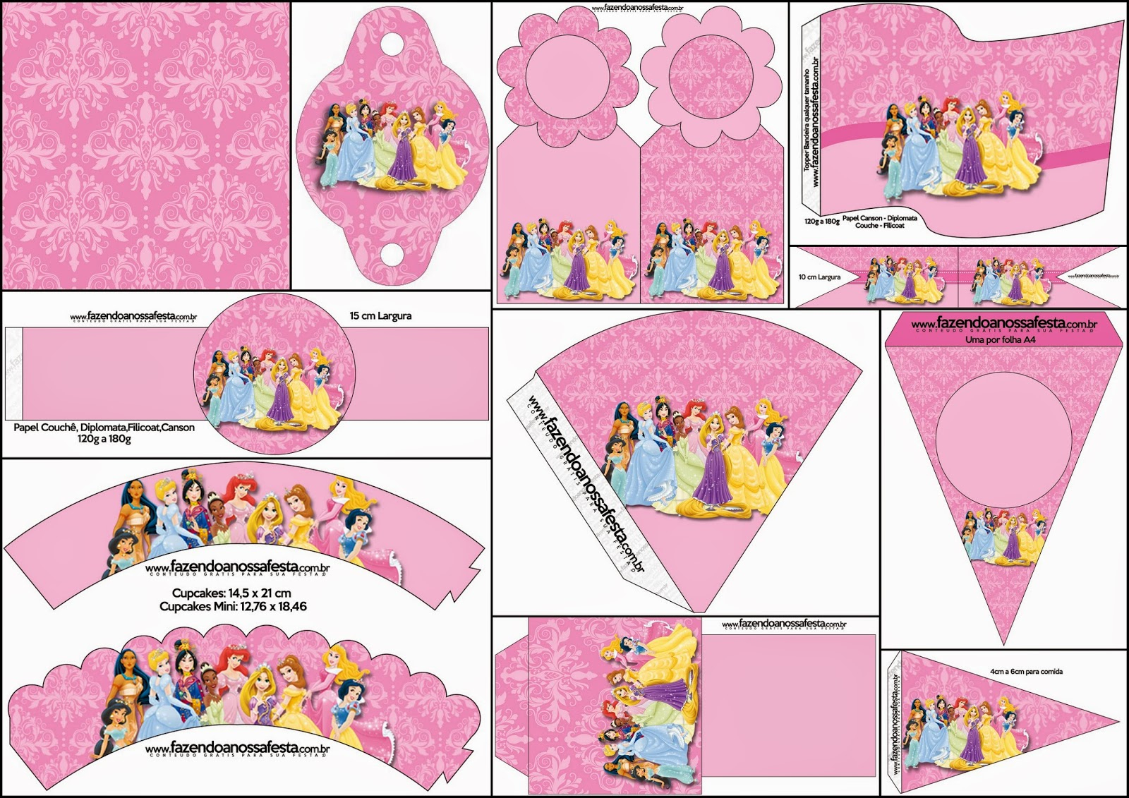 Disney Princess Party: Free Party Printables. | Oh My Fiesta! In English - Free Printable Princess Birthday Banner